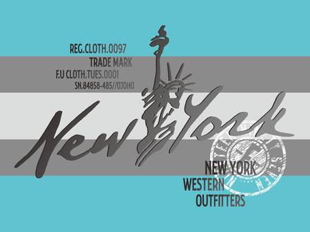 graphic new york Stock Vector - 17106065