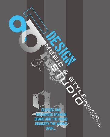 quartered: graphic design style