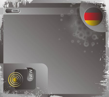 web page template grungy germany Illustration