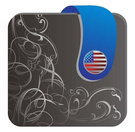 saved: web folder america Illustration