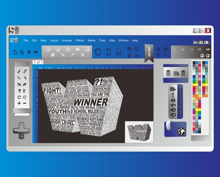 image editing: application window