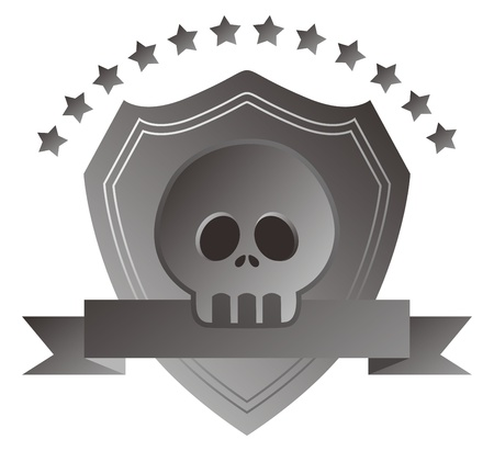 grey skull man Vector