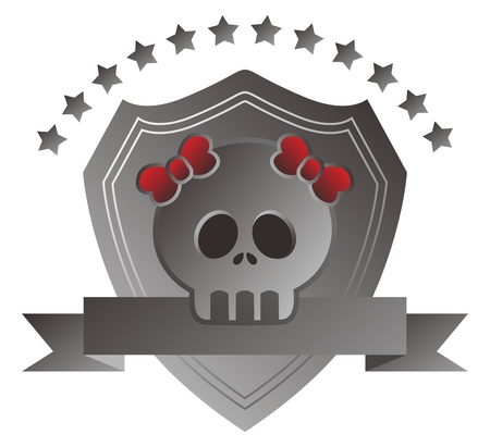 grey skull Stock Vector - 17204011