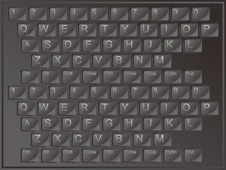 keyboard alphabet Stock Vector - 17316498