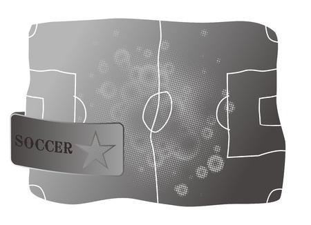 soccer silver Vector