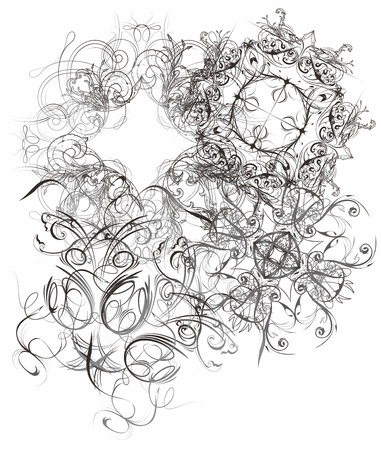 floral page full Stock Vector - 17362887