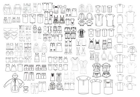kleding kunst template alle