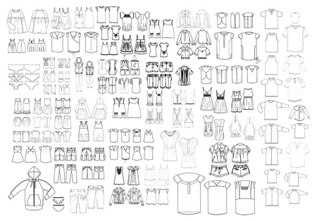 modèle de l'art du vêtement tout