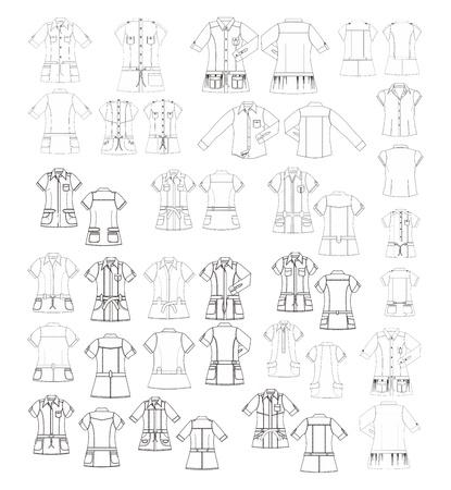 apparel art template many Stock Vector - 17362908