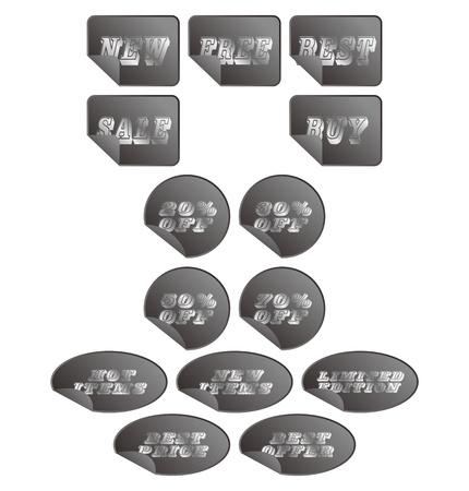 web button silver grey Illustration