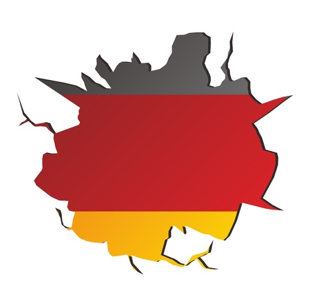 crack germany Stock Vector - 17362888