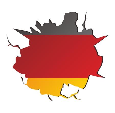 crack germany Stock Vector - 17362888