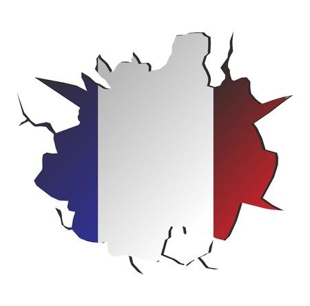 crack france Stock Vector - 17362889