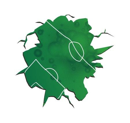 field soccer crack Illustration