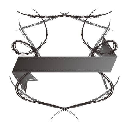 shield ribbon sketch high