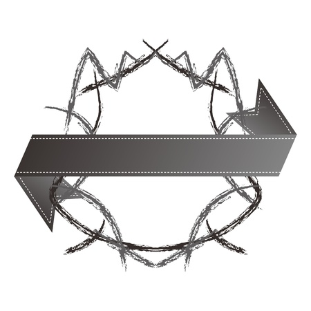 shield ribbon sketch fine Vector