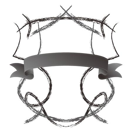 shield ribbon sketch light Stock Vector - 17479388