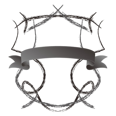 shield ribbon sketch light