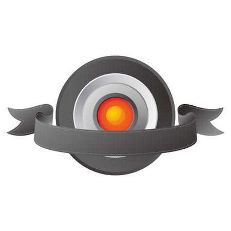 orange middle button Illustration