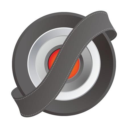 orange middle button ribbon Illustration