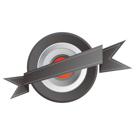 orange middle button tilt Stock Vector - 17458491