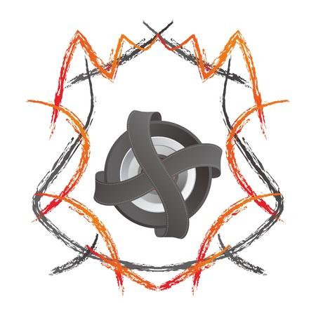 shield ribbon sketch color