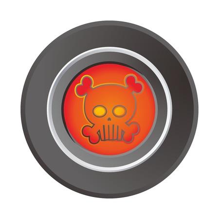 label skull Stock Vector - 17458490