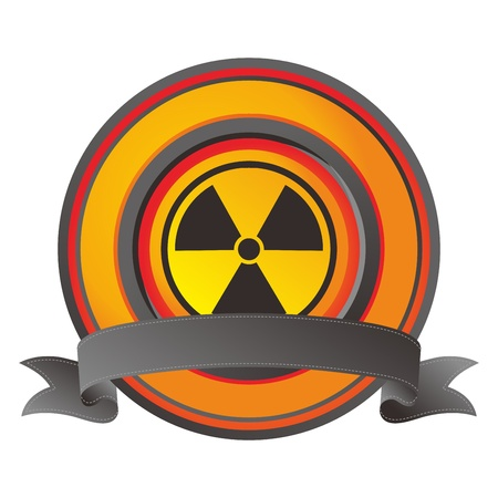 label nuclear Stock Vector - 17458493