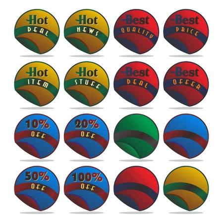 button art sticker Illustration