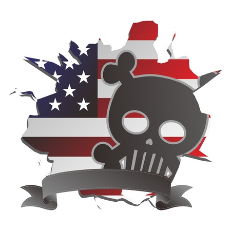 america seal skull Stock Vector - 17546153