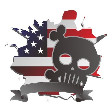 america seal skull Stock Vector - 17546153