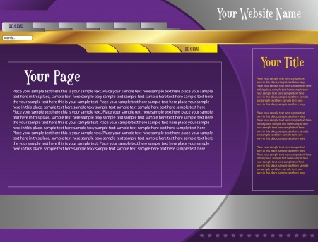web page template one
