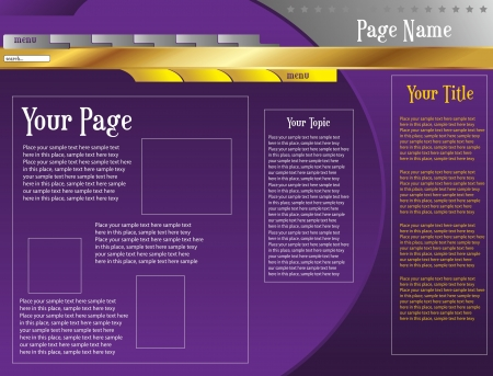 web page template two