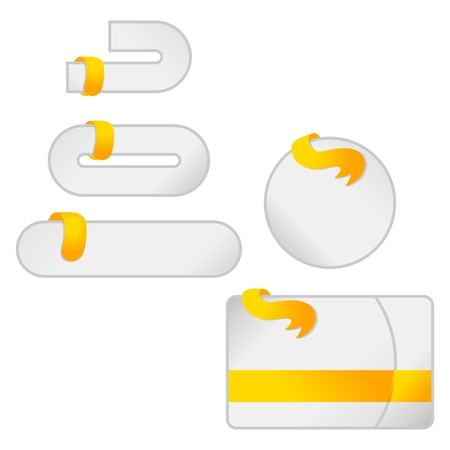 web page template button
