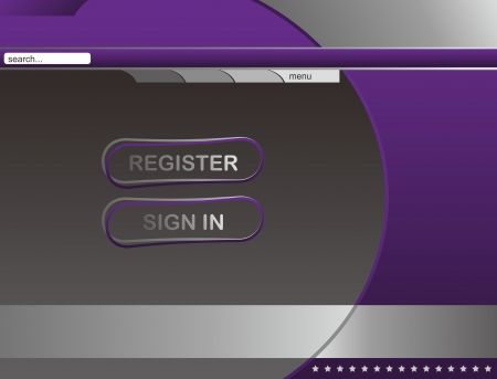 web page template sign Illustration
