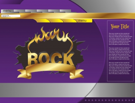 web page template rock