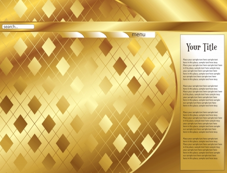 web page template gold Illustration