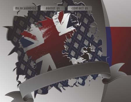 british web page three Illustration