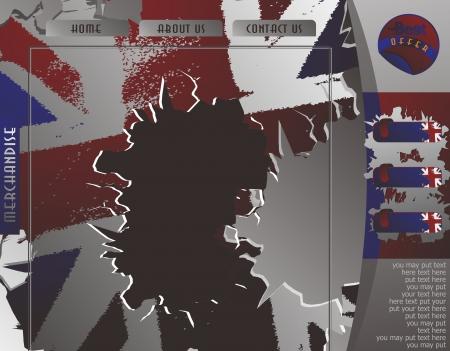 british web page two Illustration