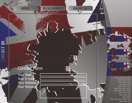 british web page contact