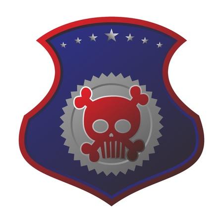 seal tag skull art Stock Vector - 17546166