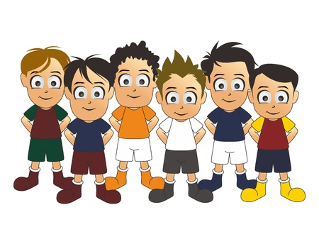 soccer team two Illustration