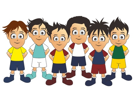 soccer team one Vector