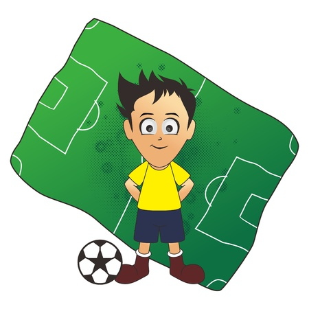 soccer field boy Vector
