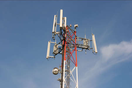 electromagnetic radiation: Top the tower of a transmitter station