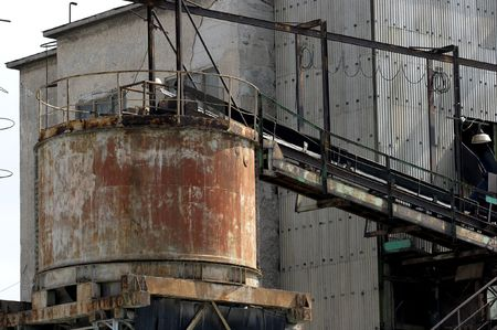 Detail of an old, abandoned industrial building Stock Photo - 2026371