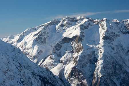 High mountains covered by snow Stock Photo - 3555527