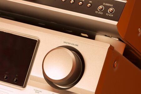 hifi: Detail of a hifi system Stock Photo