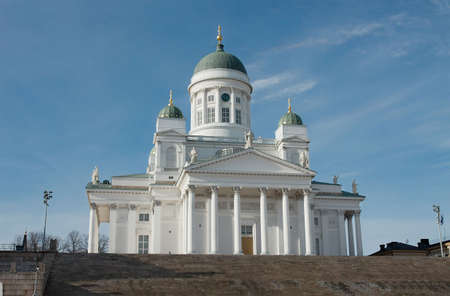 The main cathedral in Helsinki, Finland photo