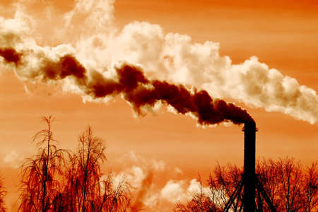 Industrial plant spitting out smoke Stock Photo - 4875084